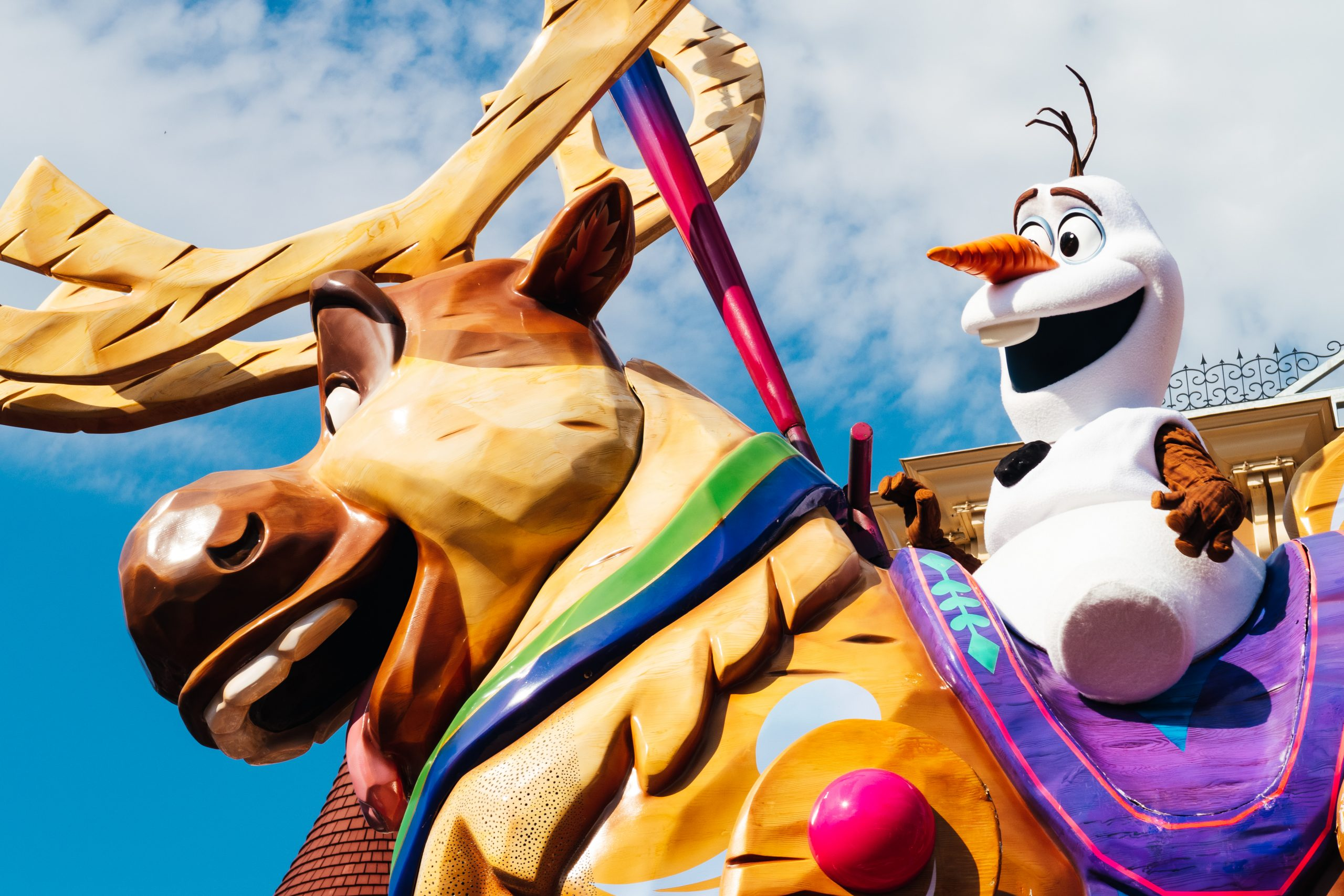 Olaf during Disney Stars On Parade