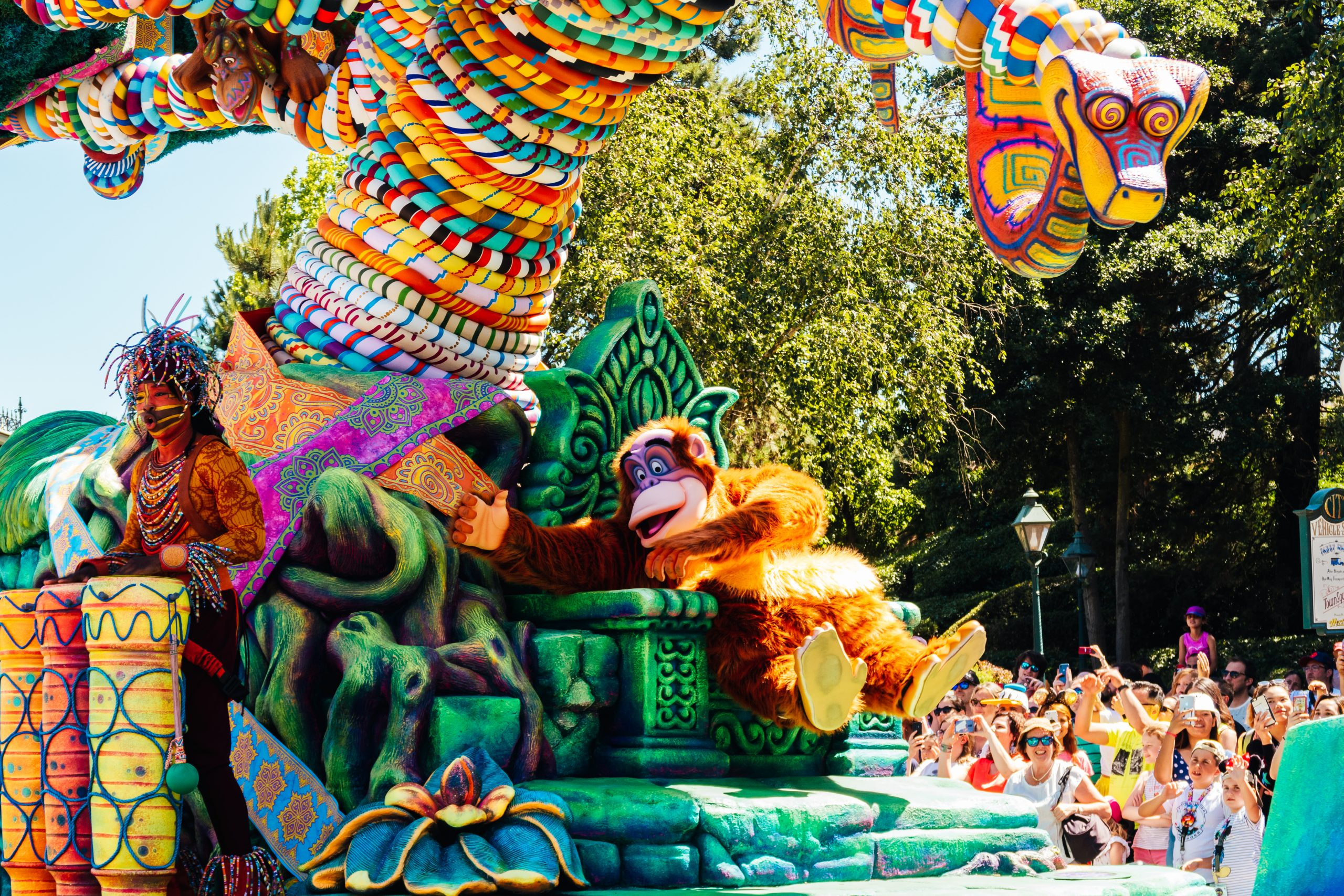 King Louie during Disneyland Paris Jungle Jive parade